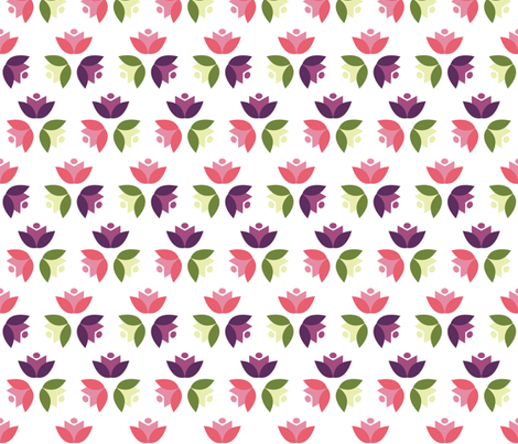 TULIP_HEADS_MIX fabric by katyclemmans on Spoonflower - custom fabric