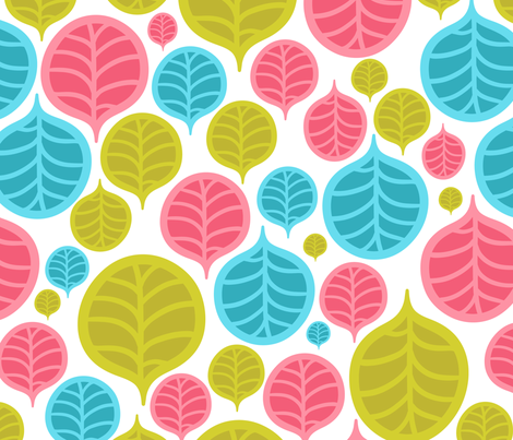 leaf color pattern fabric by kostolom3000 on Spoonflower - custom fabric