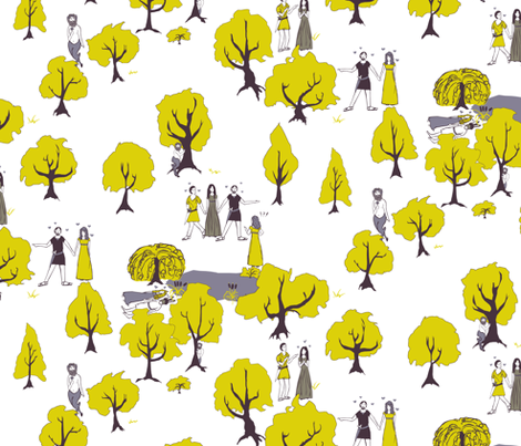 Midsummer Forest fabric by pond_ripple on Spoonflower - custom fabric