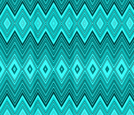AQUA DIAMOND CHEVRON fabric by bluevelvet on Spoonflower - custom fabric
