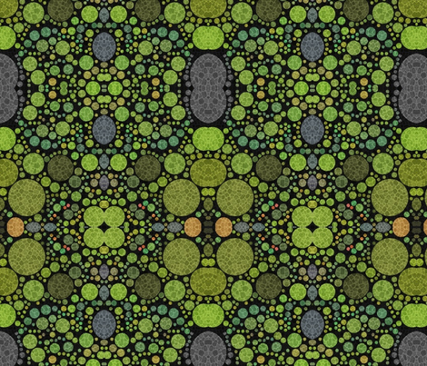 Greenness Round fabric by relative_of_otis on Spoonflower - custom fabric