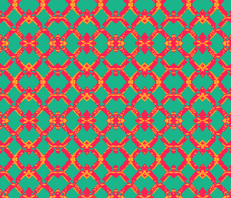 Tropical Lattice fabric by mbsmith on Spoonflower - custom fabric