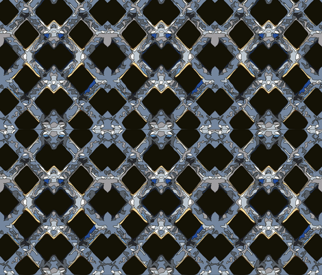 Snow Lattice  fabric by mbsmith on Spoonflower - custom fabric