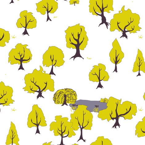 Midsummer Setting fabric by pond_ripple on Spoonflower - custom fabric