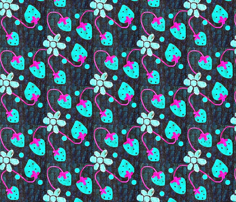 blue berries fabric by dk_designs on Spoonflower - custom fabric