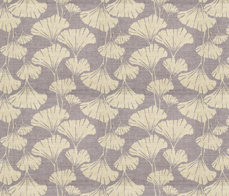 Royal Ginko - adzuki mauve -  fabric by frumafar on Spoonflower - custom fabric