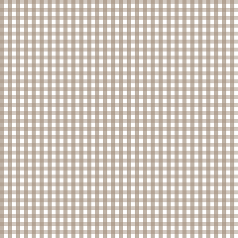 gingham tan fabric by misstiina on Spoonflower - custom fabric