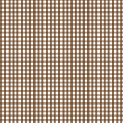 gingham brown
