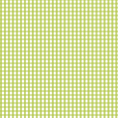 gingham lime green