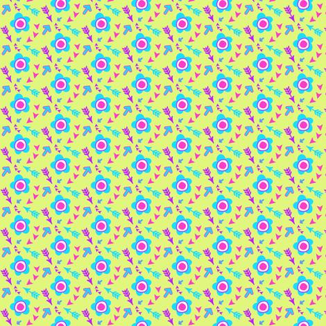 Flowers & Arrows! - Summer's Call - © PinkSodaPop 4ComputerHeaven.com fabric by pinksodapop on Spoonflower - custom fabric