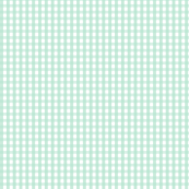 gingham mint green