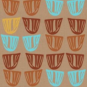 Vessels on Linen