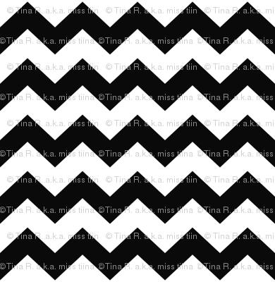 chevron i think i ♥ u black and white