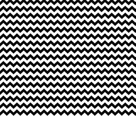 chevron i think i ♥ u black and white fabric by misstiina on Spoonflower - custom fabric