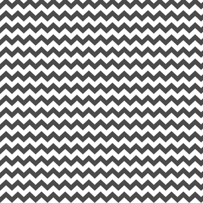 chevron i think i ♥ u dark grey and white