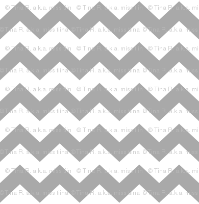 chevron i think i ♥ u grey and white