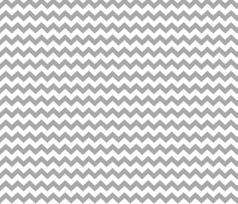 chevron i think i ♥ u grey and white fabric by misstiina on Spoonflower - custom fabric
