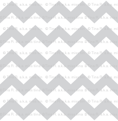 chevron i think i ♥ u light grey and white