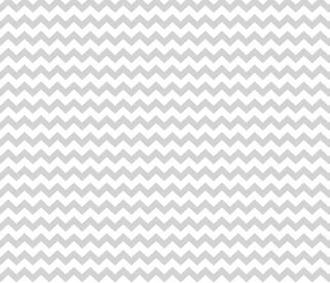 chevron i think i ♥ u light grey and white fabric by misstiina on Spoonflower - custom fabric