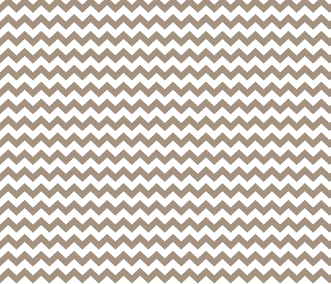 chevron i think i ♥ u tan and white fabric by misstiina on Spoonflower - custom fabric