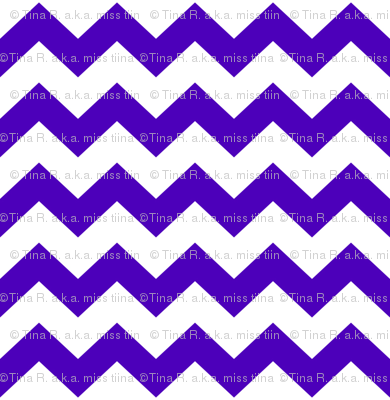 chevron i think i ♥ u purple and white