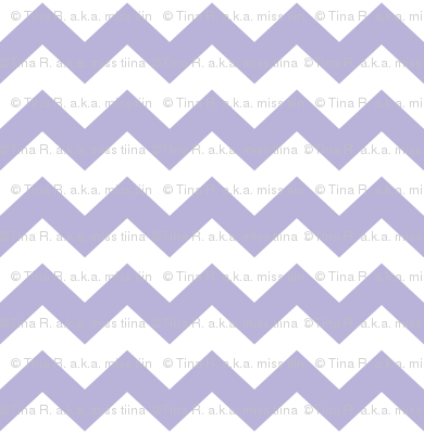 chevron i think i ♥ u light purple and white