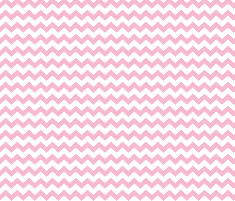 chevron i think i ♥ u light pink and white fabric by misstiina on Spoonflower - custom fabric