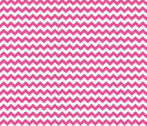 chevron i think i ♥ u dark pink and white