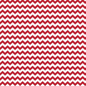 chevron i think i ♥ u red and white
