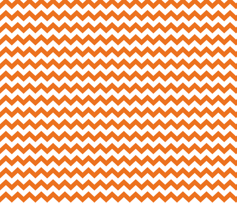 chevron i think i ♥ u orange and white