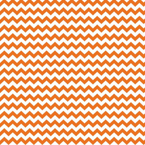 chevron i think i ♥ u orange