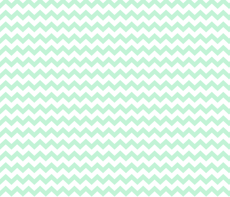 chevron i think i ♥ u ice mint green