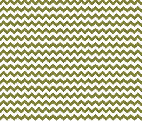 chevron i think i ♥ u olive green and white