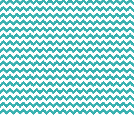 chevron i think i ♥ u teal