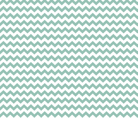 chevron i think i ♥ u faded teal and white fabric by misstiina on Spoonflower - custom fabric