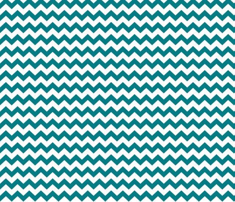 chevron i think i ♥ u dark teal fabric by misstiina on Spoonflower - custom fabric