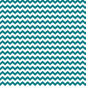 chevron i think i ♥ u dark teal and white