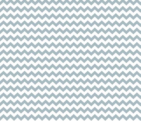 chevron i think i ♥ u slate blue and white fabric by misstiina on Spoonflower - custom fabric