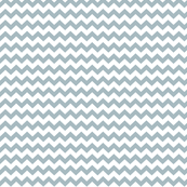 chevron i think i ♥ u slate blue and white