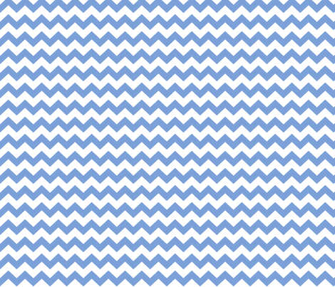 chevron i think i ♥ u cornflower blue and white fabric by misstiina on Spoonflower - custom fabric