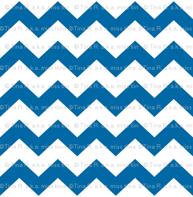 chevron i think i ♥ u blue and white