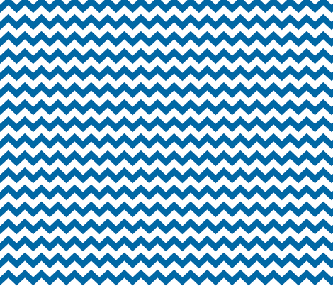 royal blue chevron i think i heart u fabric by misstiina on Spoonflower - custom fabric