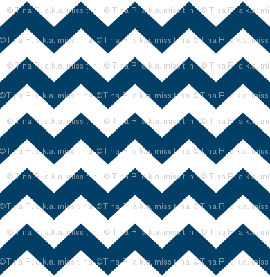 chevron i think i ♥ u navy blue and white