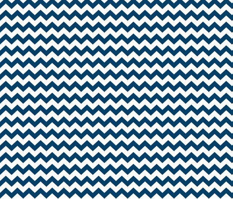 chevron i think i ♥ u navy blue and white fabric by misstiina on Spoonflower - custom fabric