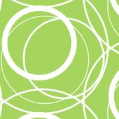 Random Circles -green