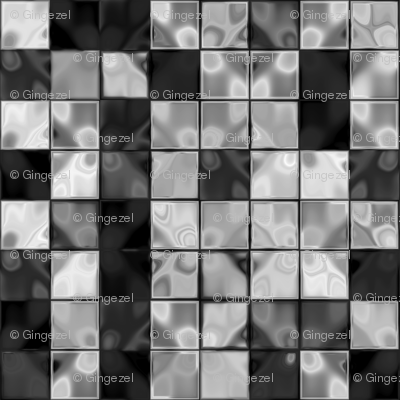 Black Plus White Faux Tile © Gingezel™ 2013