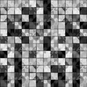 Black Plus White Faux Tile © Gingezel™ 2013