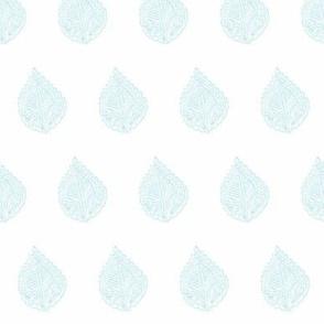 Leaf Outline Aquamarine