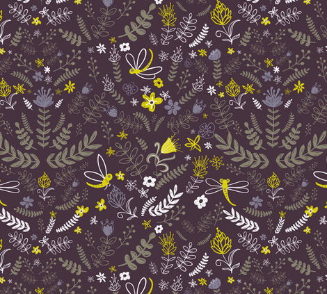 Midsummer night´s dream fabric by yaskii on Spoonflower - custom fabric
