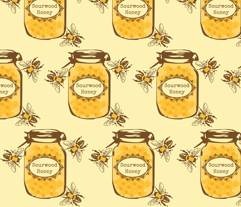 Farmers Market Sourwood Honey fabric by kfrogb on Spoonflower - custom fabric
